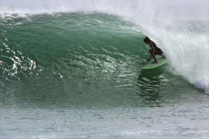 In the tube - Surfing Nicaragua